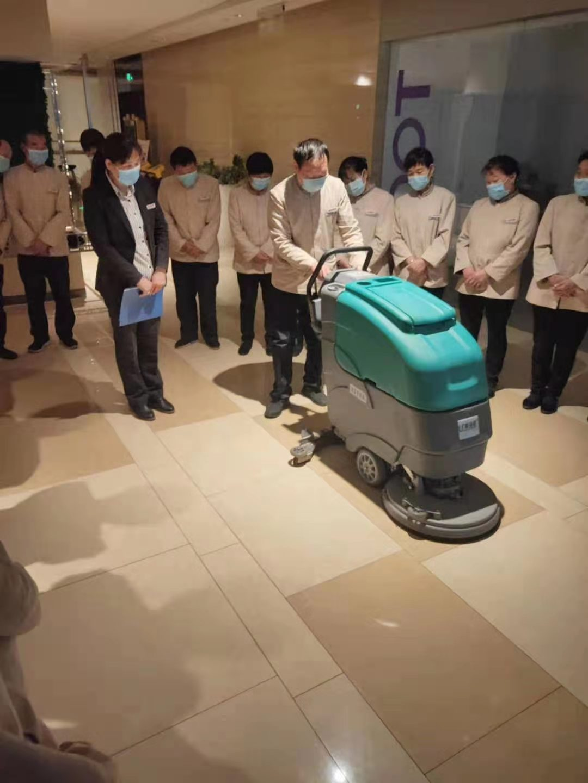 洗地机现场使用案例